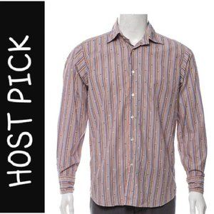 ETRO Multi-Colored Textured Striped Shirt